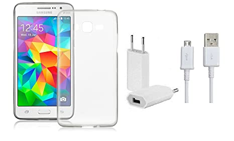 check out 8376a 72b21 Transparent Back Case Cover and Wall Charger For Samsung Galaxy ...