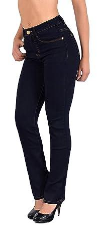 27f87acd6c38b5 ESRA Damen Jeans Hose gerader Schnitt Straight Fit Jeans bis Übergröße  Übergrösse Gr. 52,