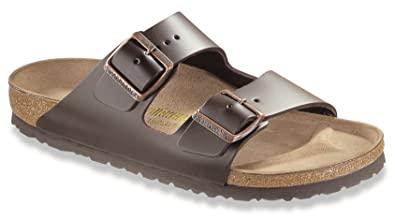 b62040bb4e8 Image Unavailable. Image not available for. Color  Birkenstock Arizona  Sandals Narrow Width Smooth Leather ...