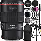 Canon EF 100mm f/2.8L Macro IS USM Lens Bundle with Manufacturer Accessories & Accessory Kit for EOS 7D Mark II, 7D, 80D, 70D, 60D, 50D, 40D, 30D, 20D, Rebel T6s, T6i, T5i, T4i, SL1, T3i, T6, T5