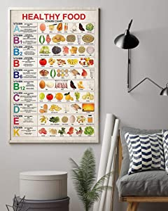 Dietitian and Nutritionist Healthy Food Vertical Poster Wall Art & Wall Decor & Painting for College Dorm – Office Decor - Makeup Room Decor - Dorm Room Poster