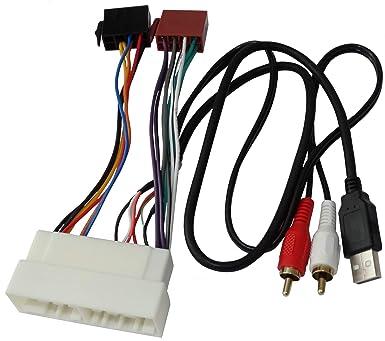 Aerzetix C40122 Adapter Kabel Stecker Iso Usb Rca Für Autoradio Gewerbe Industrie Wissenschaft