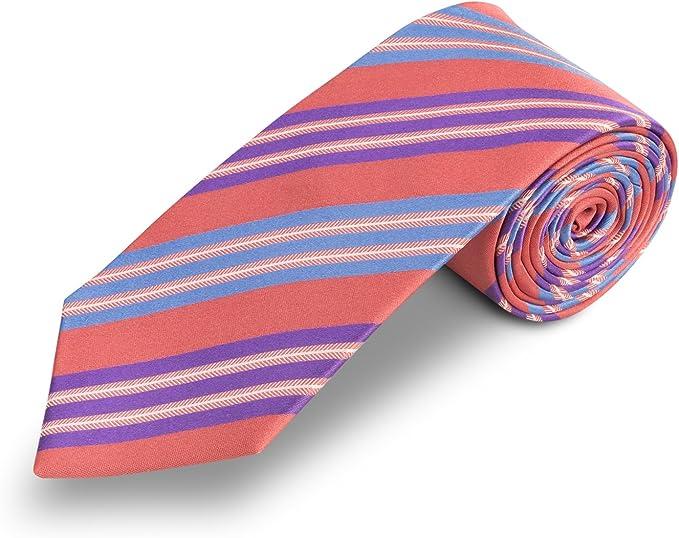 Corbata roja - corbatas rayas - Corbatas de hombre de seda ...