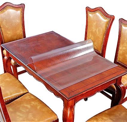 Amazon Com Table Protector Matt Vinyl Plastic Tablecloth Square