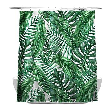 Tropischen Pflanzen Banana Leaves Badezimmer Vorhänge, 100 ...