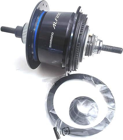 Shimano Alfine SG-S7001 8-Speed Internally Geared Disc Brake 36h Rear Hub Black,