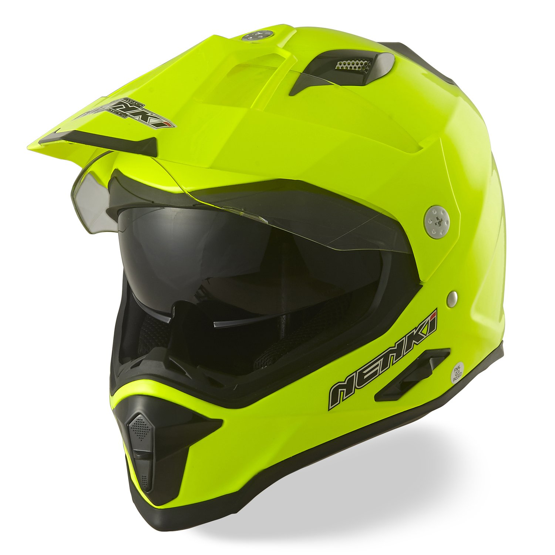 Amazon.es: NENKI Dual Sport Aventura Enduro Casco de Motocross NK NK-313 ECE Aprobado (Mate Negro, Tamaño L