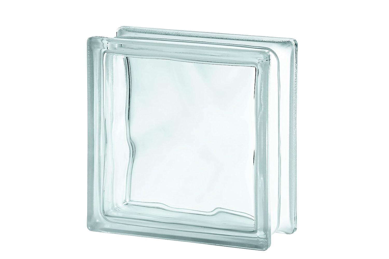 5x Glasbaustein Wolke wei/ß 19x19 cm 5er-Pack