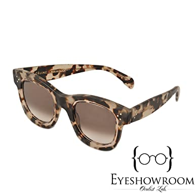 418df8b7c7 Celine 41397 S T7MZ3 Grey Havana Helen Square Sunglasses Lens Category 3  Size 4  Amazon.co.uk  Clothing