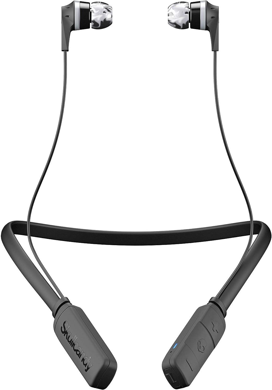 Auriculares Skullcandy Ink'd Bluetooth Inalámbricos con Micrófono Integrado, Supreme Sound, 8 Horas de Batería Recargable, Cuello Flexible y Ligero, Negro