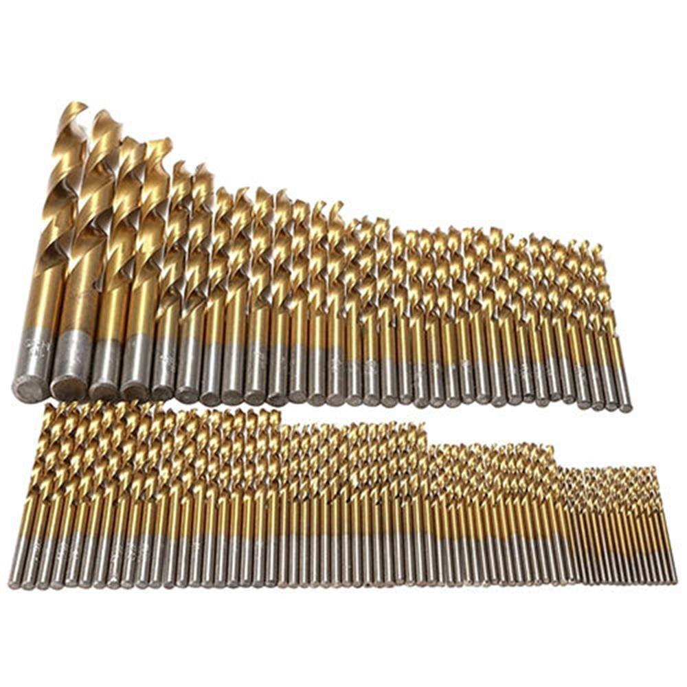 10mm Pawaca 99 Pcs Titanizing Coated HSS High Speed Steel Drill Bit Set Tool 1.5mm