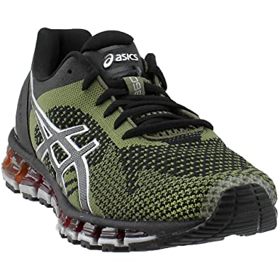 bas prix 4d244 73271 ASICS Men's Gel-Quantum 360 Knit Black/Martini Olive/Silver Nylon Running  Shoes