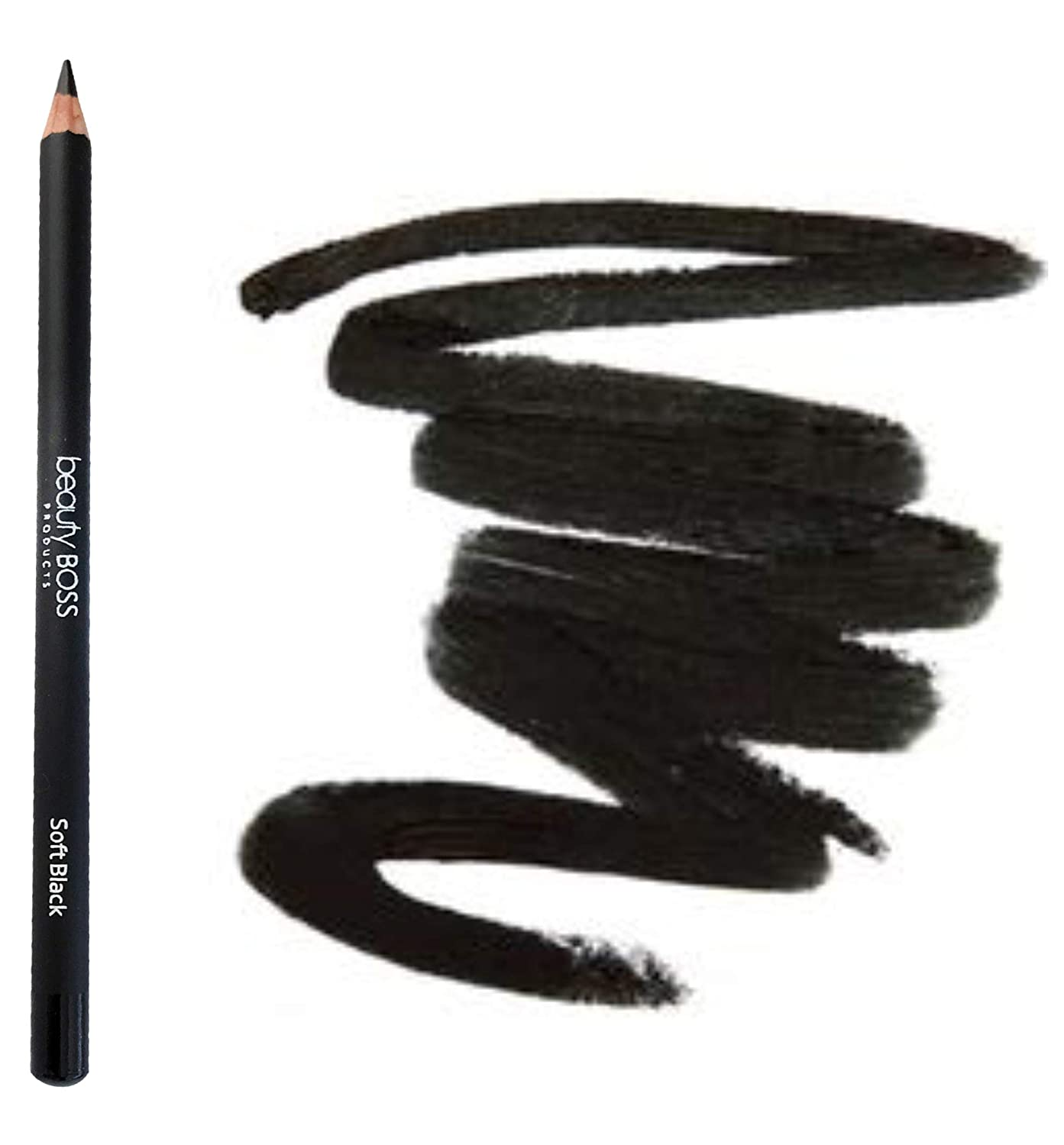 Perfect Eyebrow Pencil Smooth Formula for Bold Fuller and Fluffier Brows (Soft Black)