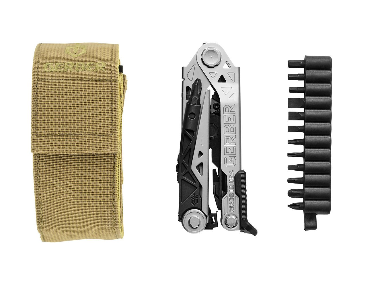 Gerber Center-Drive Multi-Tool | Bit Set, Coyote Brown US-Made Sheath [30-001407] by Gerber (Image #1)