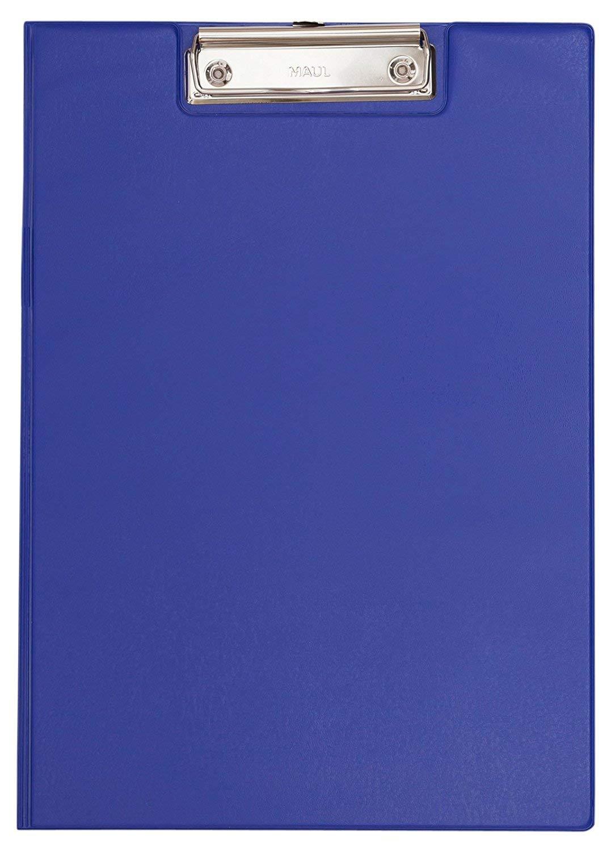 Aufklappbares Klemmbrett Gr/ö/ße A4 hoch Maul Schreibmappe mit Folien/überzug 12 St/ück Innentasche 2339237 Blau