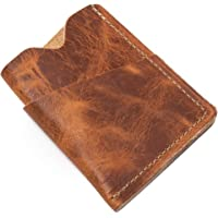 Popov Leather - Front Pocket Wallet for Men Horween Chromexcel, Minimalist and Handmade