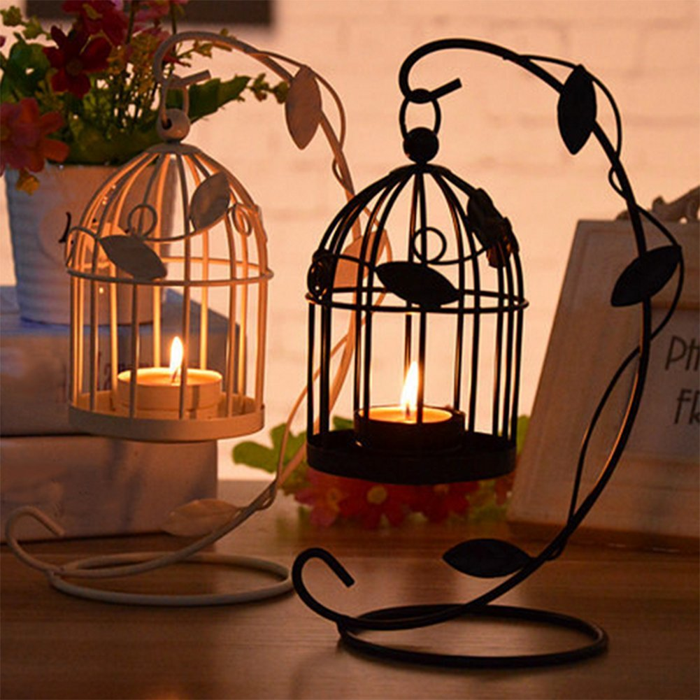 LAAT Candle Holder Birdcage-shape Metal Tealight Lanterns LED Wedding ChristmasTable Home Decoration by LAAT (Image #3)