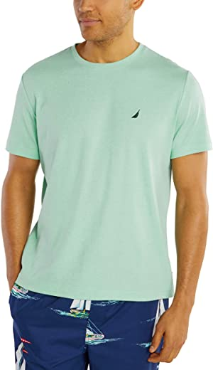 Nautica Men's Short Sleeve Crew Neck Soft Knit Sleep Lounge Tee