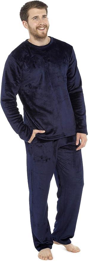 CityComfort Pijamas para Hombre, Pijama Forro Polar Loungewear, Pijama De Forro Polar Pijama De Dos Piezas De Manga Larga, Regalos Originales para Hombre: Amazon.es: Ropa y accesorios