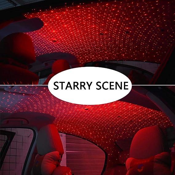 Amazon.com: Coche USB Atmósfera Ambiente Estrella Luz del ...