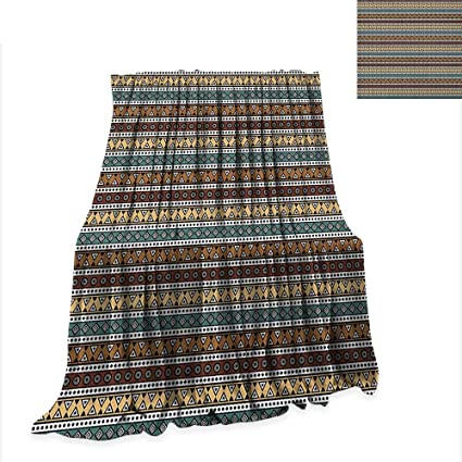 Amazon.com: Anyangeight Boho Throw Blanket Ethnic Geometric ...