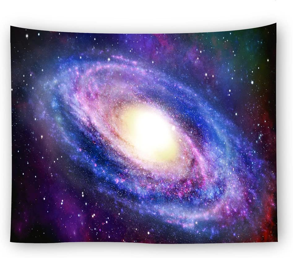 SOFTBATFY Spiral Galaxy Tapestry Wall Hanging Tapestry Headboard Wall Art Bedspread Dorm Tapestry Home Decor(130150cm 5158inches, Galaxy)