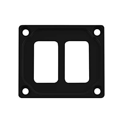 STV Motorsports Auto Dash Switch Panel for 2 Rocker Toggle Switches fits Car Truck RV UTV Marine Boat – Made in the USA (Black): Automotive