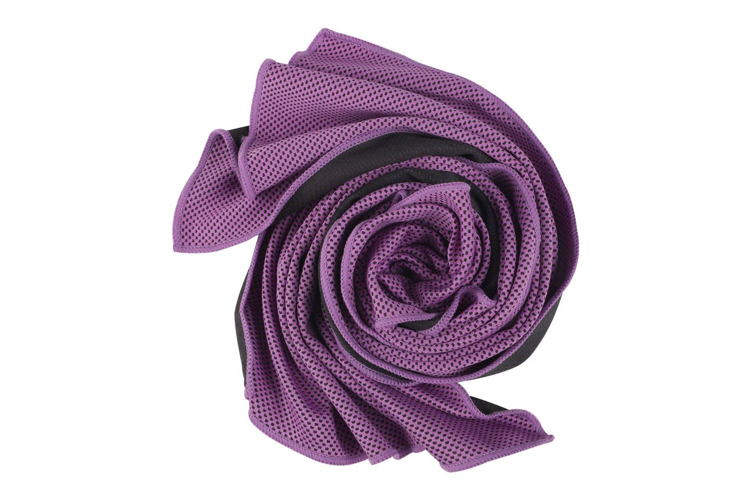 BMCF Cool Towels-Ice Purple Cooling Towels Gym Running Hiking Chilly Pad Instant Cool Sports Fitness Towel for Yoga Golf Travel (40