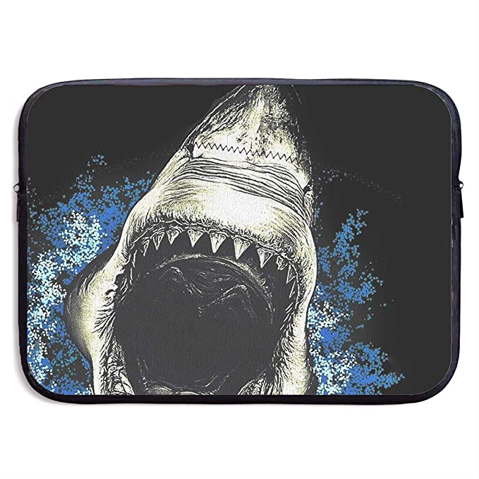 ae6a47831eec Amazon.com: Scary Shark Open Mouth Computer Bag Laptop Case Sleeve ...