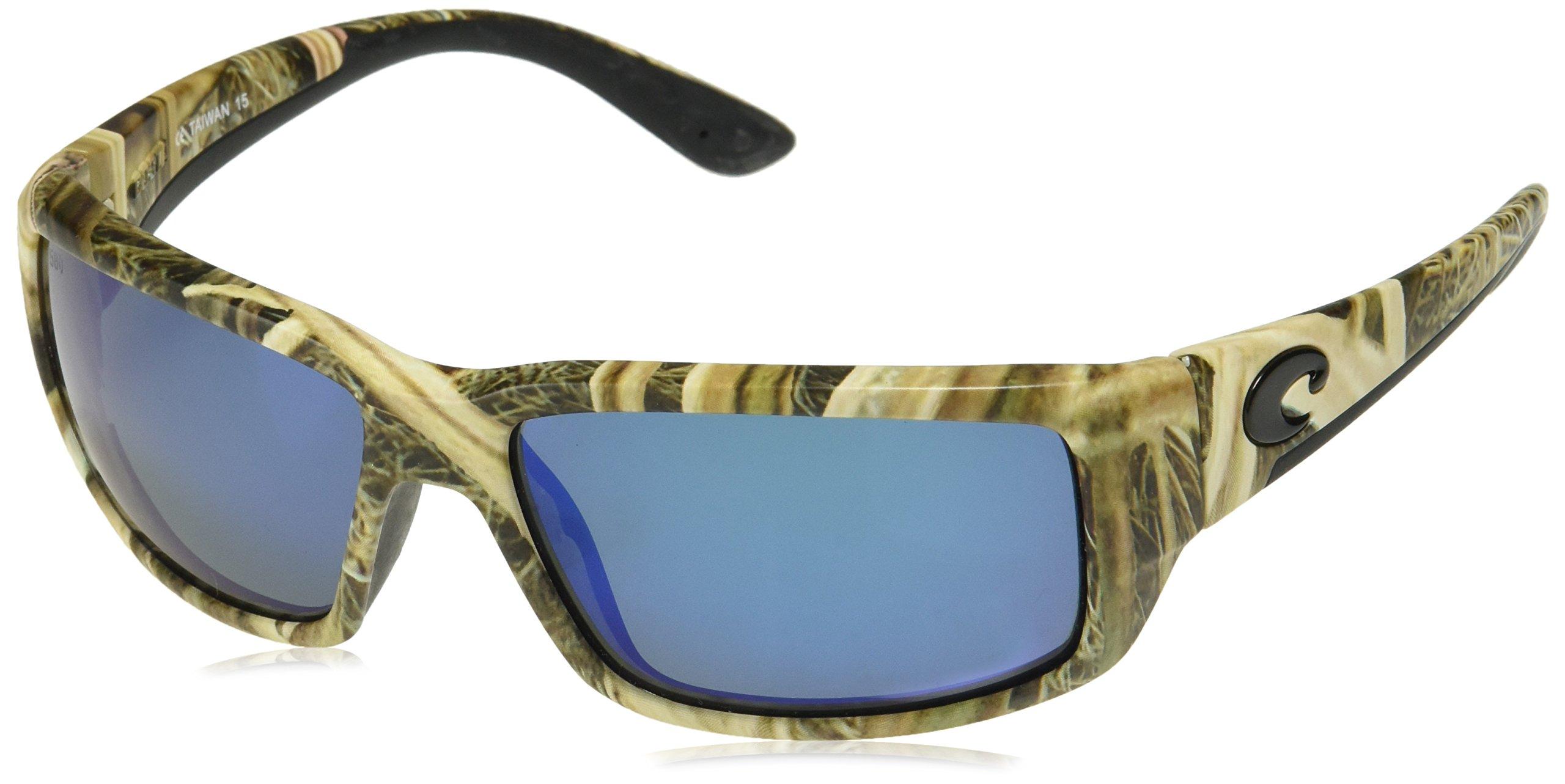 Costa Del Mar TF65OBMGLP Fantail Sunglasses, Mossy Oak Shadow Grass Blades Camo, Blue Mirror 580G Lens