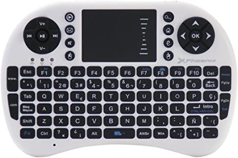 Phoenix Technologies - Mini teclado inalámbrico 2.4Ghz con touchpad integrado para Android TV Box, PC, Pad, Smart TV, X-Box, HTPC: Amazon.es: Informática