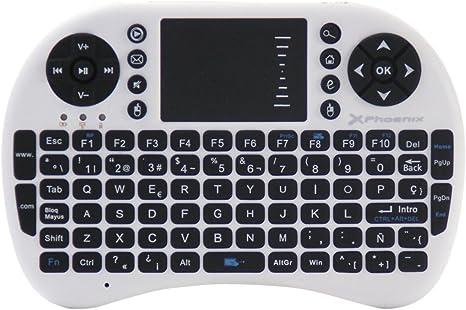 Phoenix Technologies - Mini teclado inalámbrico 2.4Ghz con touchpad integrado para Android TV Box, PC, Pad, Smart TV, X-Box, HTPC: Amazon.es: Informática