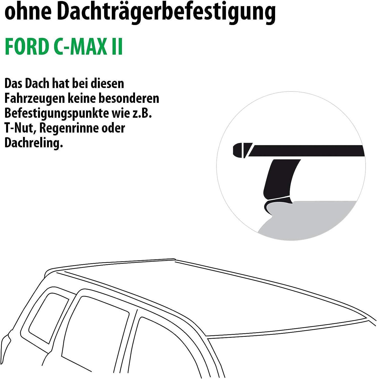 Rameder Komplettsatz Dachträger Tema Für Ford C Max Ii 118790 08995 4 Auto