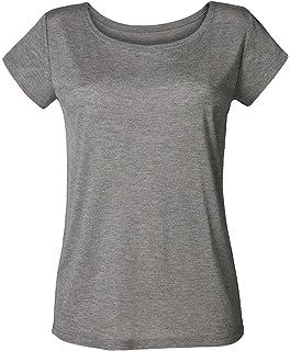 uk availability 59b44 59b8b Damen T-Shirt aus 100% Modal, Damen Shirt mit V-Ausschnitt ...