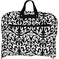 World Traveler 40 Inch Hanging Garment Bag, Black Trim Damask, One Size