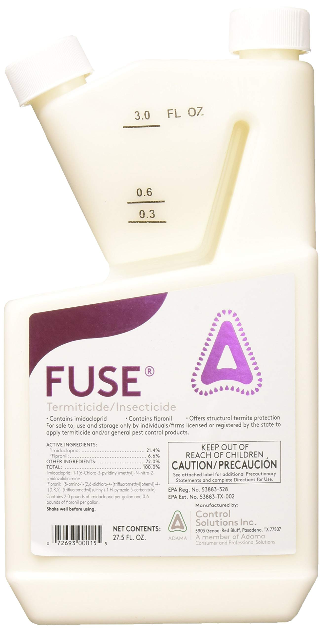 Control Solutions 82100001 Fuse 27.5oz, Insecticide by Control Solutions