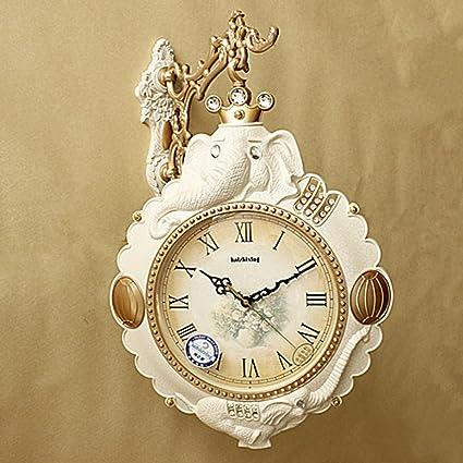 ZEKRBY Personalidad Simple Retro Reloj De Pared Hierro Forjado Roma Reloj Digital Inglaterra Industrial Sala De