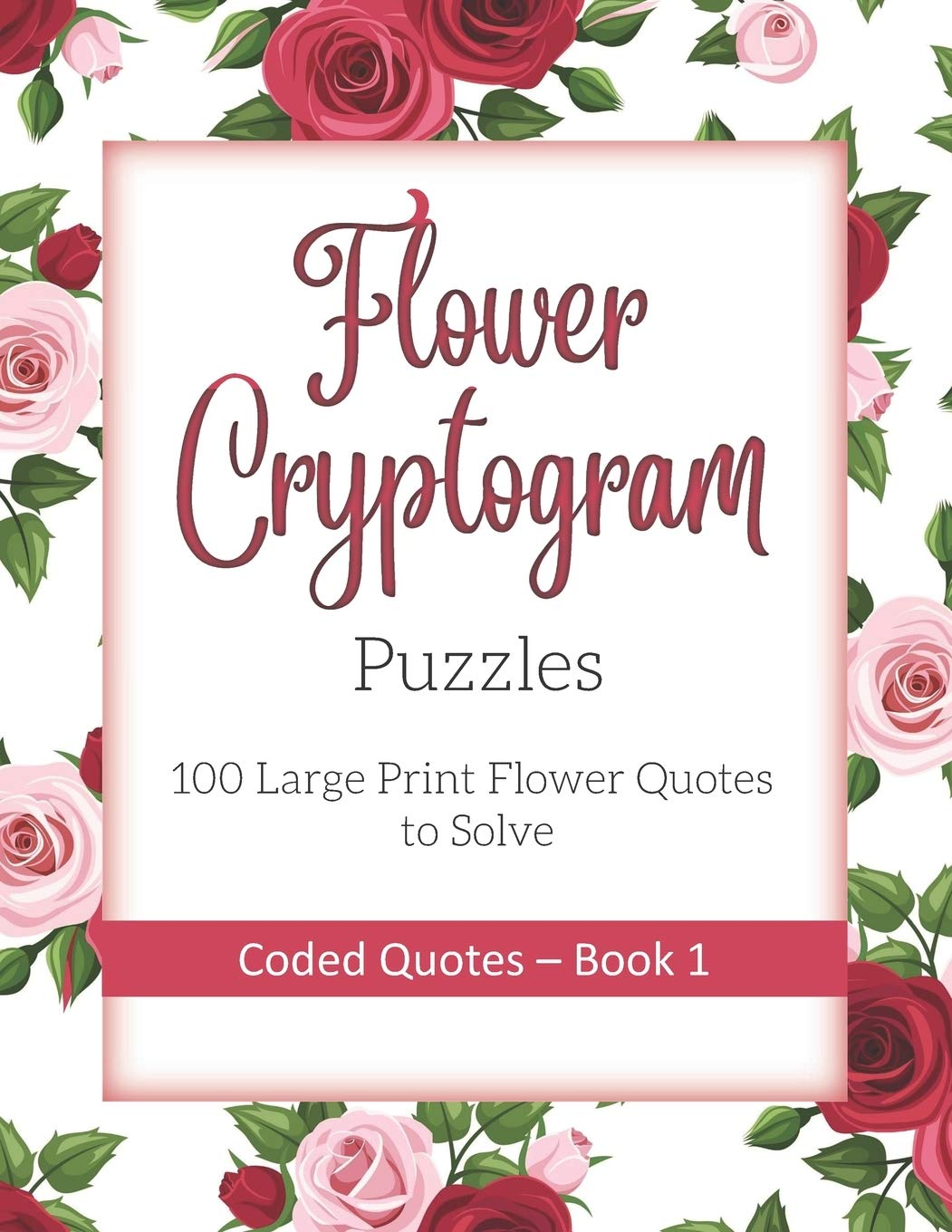 buy flower cryptogram puzzles large print flower quotes to