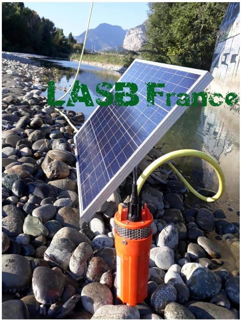 LASB FRANCE - Kit de Bomba Solar de 70 m de Profundidad con Panel fotovoltaico (100 W)