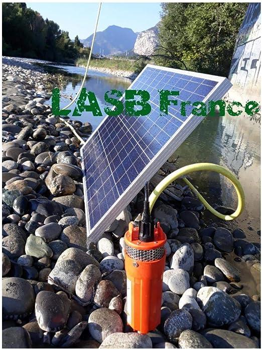 Kit de Bomba Solar de 70 m de Profundidad con Panel fotovoltaico de 100 W LASB FRANCE