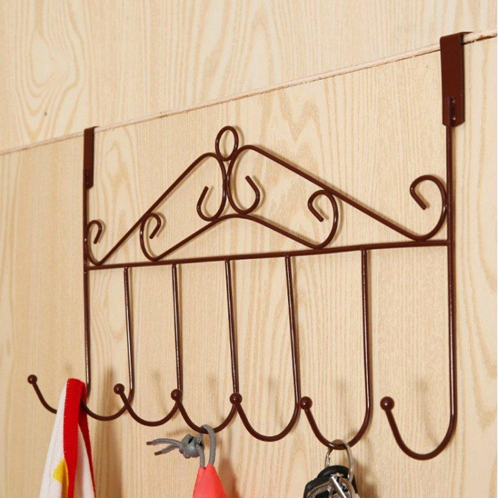 Rastrelliera con 5 ganci appendiabiti per porta, Black, 5 Hooks (Bronze) F-FOOK TRTAZ11A