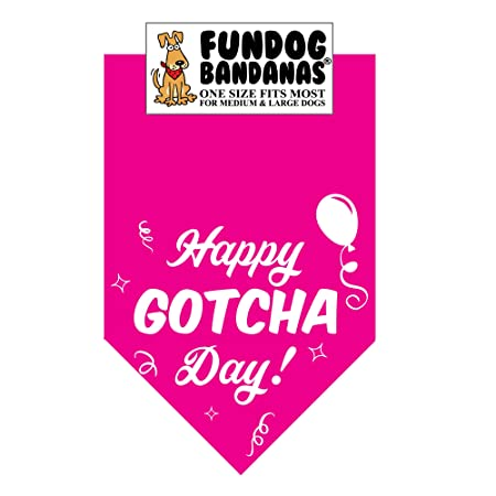 Happy Gotcha Day! Dog Bandana
