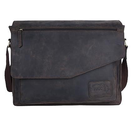 Tusc Aktentasche Braun Herren 6 Notebook Laptoptasche Triton Umhängetasche Zoll 15 Leder Schultertasche Messenger 14 Bag Tasche Für Büro Laptop n0P8kwNOX