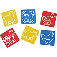 Asian Hobby Crafts Plastic Stencils (6x5-inch, 6 Pieces)
