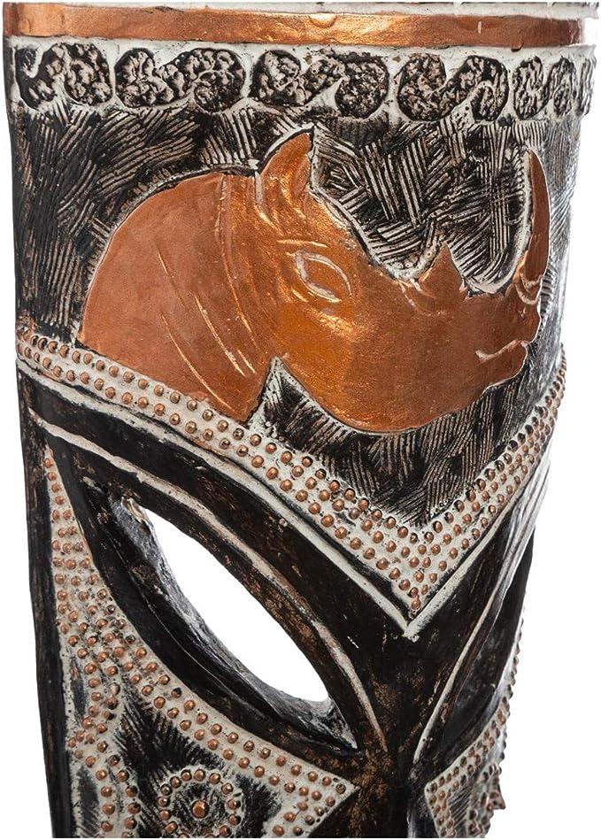 Atmosphera Sculpture Masque Africain en r/ésine H 55 cm