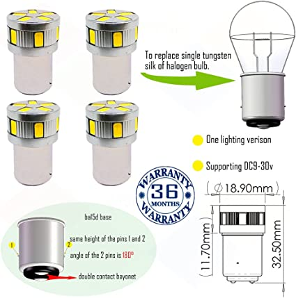 12V 36-LED BA15D 1142 WHITE GLOBE Boat//Auto//Caravan//Anchor//Stern Light Bulb