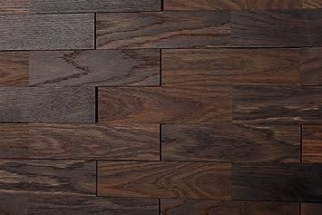 Amazon De Wodewa Wandverkleidung Holz 3d Optik I Eiche Tabak I 1m