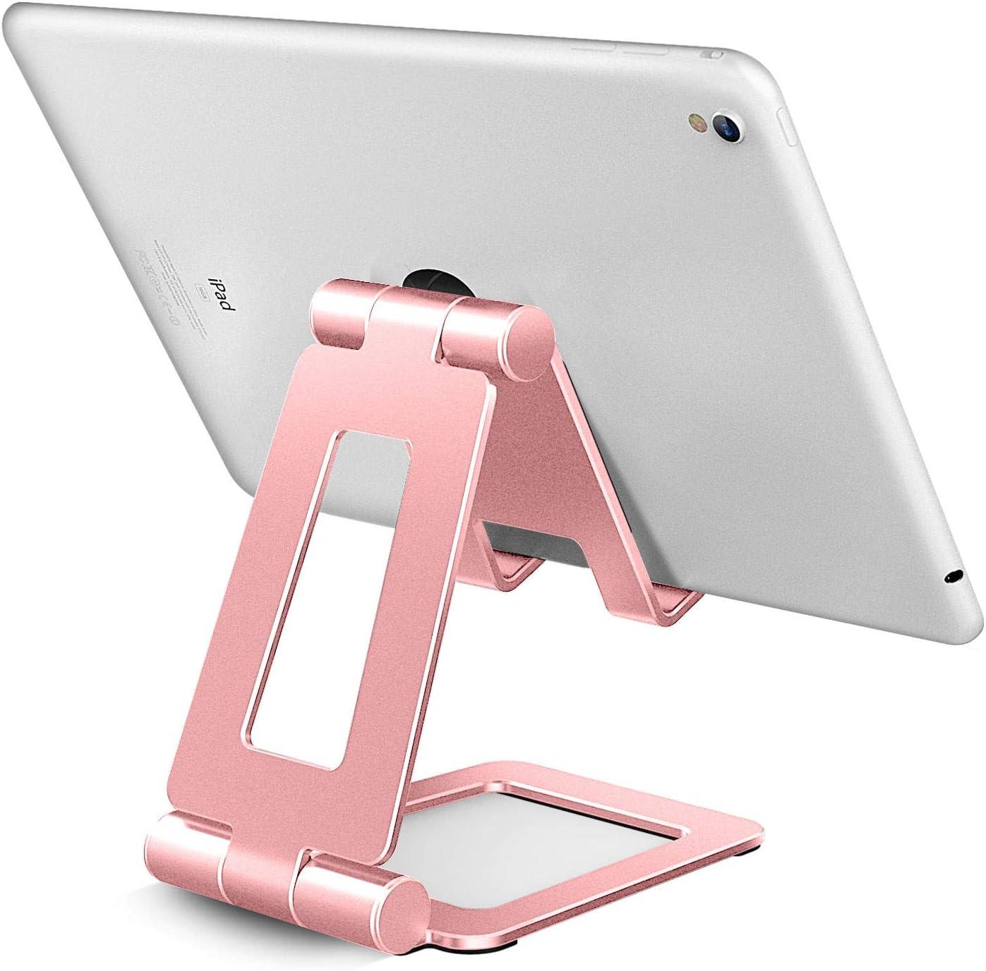 Soporte para  iPad y  iPhone ajustable rosa gold