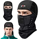 KING BIKE Winter Windproof Balaclava Ski Face Mask for Men Women, Thermal Fleece Fabric with Breathable Vents Windproof for Cold Cycling Skiing Motorcycle Snowboard Tactical Hunting