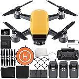 DJI Spark Portable Mini Drone Quadcopter Fly More Combo Landing Pad Ultimate Bundle (Sunrise Yellow)